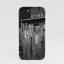 Thelonious Monk, Howard McGhee, Roy Eldridge, and Teddy Hill, Minton's Playhouse, 1947 photography - photograph iPhone Case