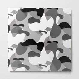 Camo-licious Collection: Dirty Martini Gray Camo Pattern Metal Print