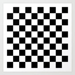 Black White Checker Art Print