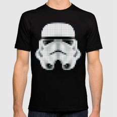 Stormtrooper Helmet Pixel Inverted Black Mens Fitted Tee X-LARGE