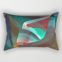 Visual impact, modern fractal abstract Rectangular Pillow
