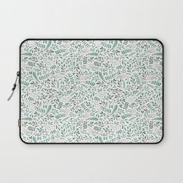 Green Leaves and Red Berries. Laptop Sleeve