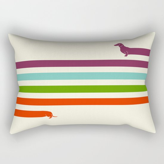 (Very) Long Dachshund Rectangular Pillow by HenryWine Society6