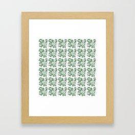 Green Bubbles Framed Art Print