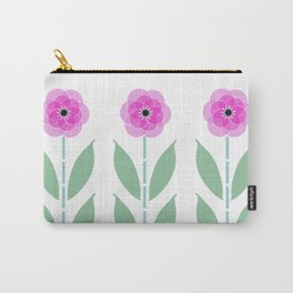 Pink Flower Trio Carry-All Pouch