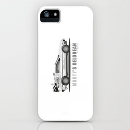 Marty's Delorean (from Back to the Future) iPhone Case