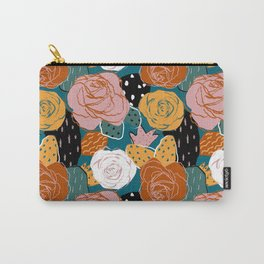 Painterly Dotted Desert Roses Carry-All Pouch