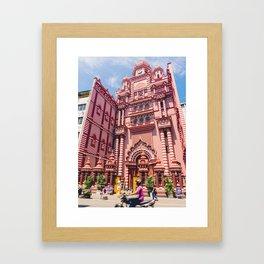 Jami-Ul-Alfar Mosque (Red Mosque) Colombo, Sri Lanka Framed Art Print