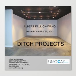 UMOCA Artforum Advertisement Canvas Print