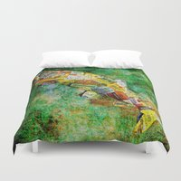 whisky Duvet Covers featuring Fish  by Saundra Myles