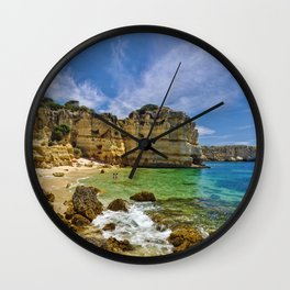An Algarve cove Wall Clock