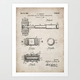 Judge Gavel Patent - Lawyer Art - Antique Art Print