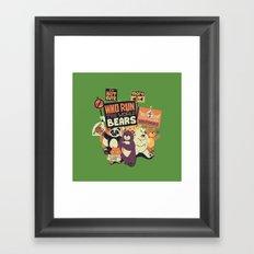 Who Run The World Bears Framed Art Print