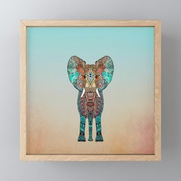BOHO SUMMER ELEPHANT Framed Mini Art Print