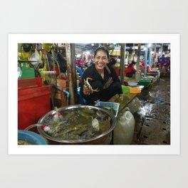 Cambodian Markets, Phnom Penh Art Print