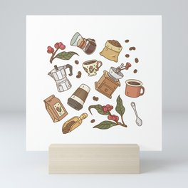 Coffee Break Pattern  Mini Art Print