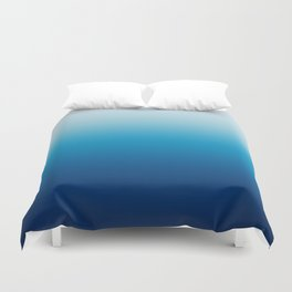 Sky and Ocean Blue Ombre Duvet Cover
