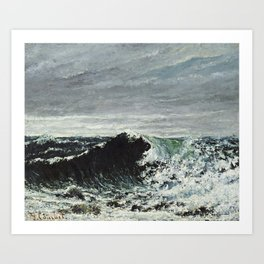 Gustave Courbet - The Wave Art Print