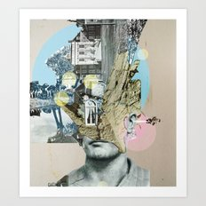 it´s all in your mind · Statue Art Print
