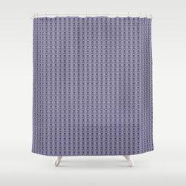 Black and Lavender Skulls Shower Curtain