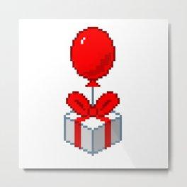 Animal Crossing Balloon Present Metal Print
