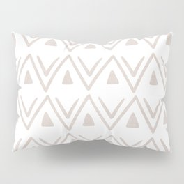 Etched Zig Zag Pattern in Tan Pillow Sham