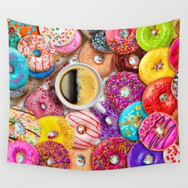 Donuts & Coffee Wall Tapestry