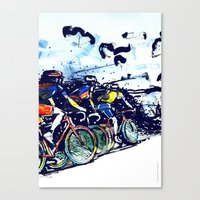tour de france Canvas Prints featuring Le Tour de France by Stefan Lucut