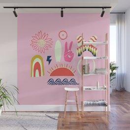 peace + harmony + surf Wall Mural