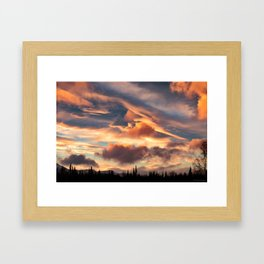 Good Morning Anchorage, Alaska Framed Art Print