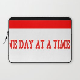 One Day at a Time (red brick) Laptop Sleeve