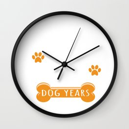 14th Anniversary Funny Married For 98 Dog Years Marriage print Wall Clock