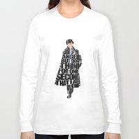 sherlock holmes Long Sleeve T-shirts featuring Sherlock Holmes by Ayse Deniz