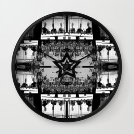 Masking The Inhuman Populace Wall Clock