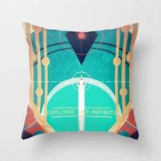 Explore the Infinite Throw Pillow