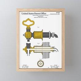 Beer Faucet Patent Framed Mini Art Print