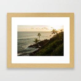 Sri Lankan golden hour Framed Art Print
