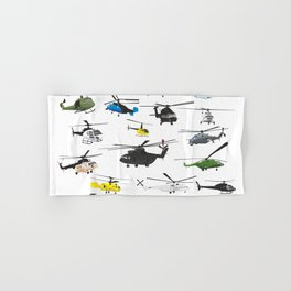 Multiple Helicopters Hand & Bath Towel