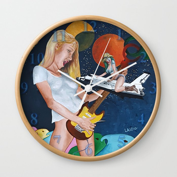 The illusory rockstar Wall Clock