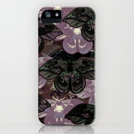 Butterfly Art Newsprint Collage iPhone Case