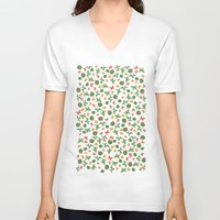 cactus V-neck T-shirts featuring Cactus by Kakel