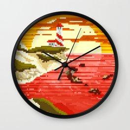 Pixel Beach Wall Clock