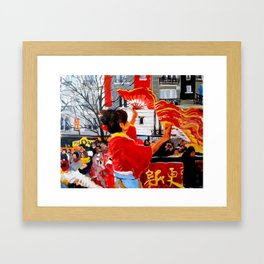 Chinese New Year in Paris Framed Art Print