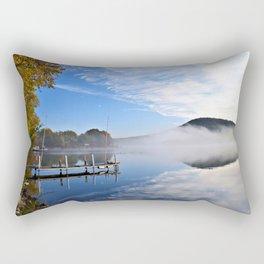 October Morning: Mergansers and Mist Rectangular Pillow