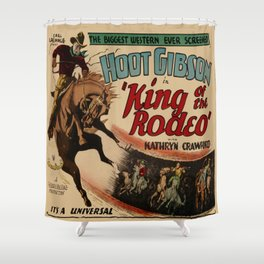 Vintage Western Movie Poster Rodeo King Shower Curtain