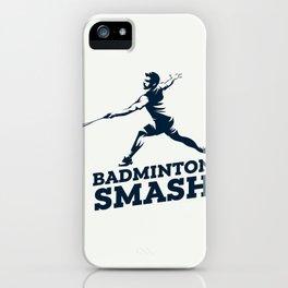 Badminton Player iPhone Case
