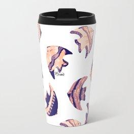 little purple fish pattern Travel Mug