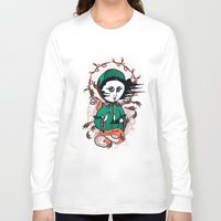 writer Long Sleeve T-shirts featuring Emily Brontë Holy Writer by roberto lanznaster