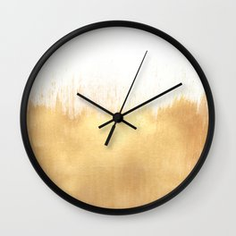 Brushed Gold Wall Clock