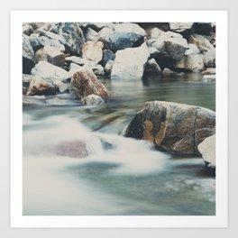 a mountain river ... Art Print